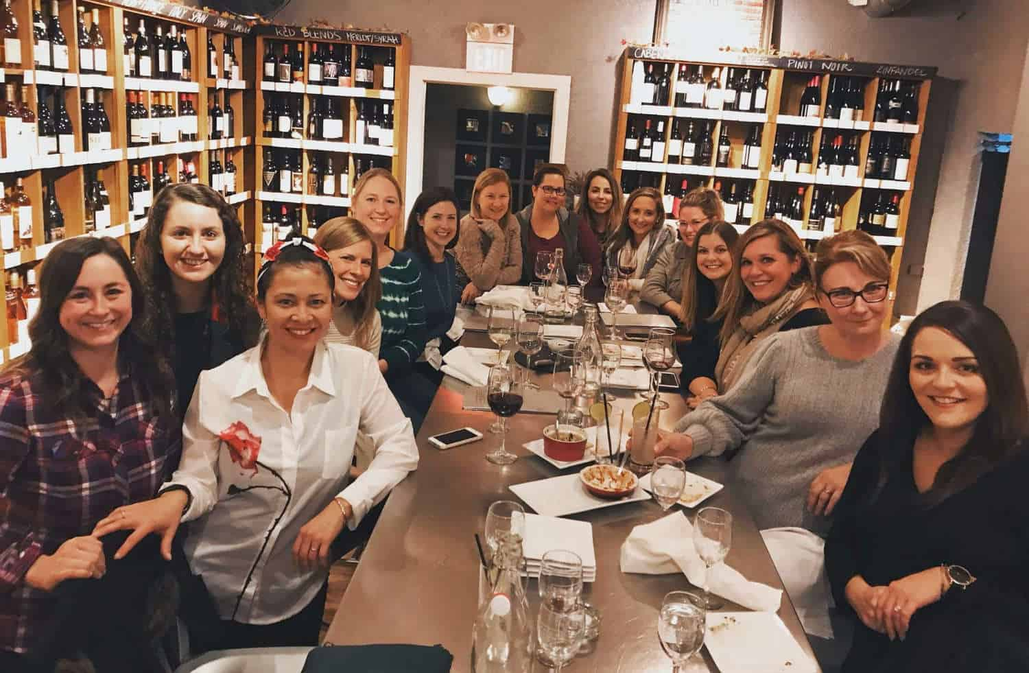 Photo of EAM members at Tannins Wine